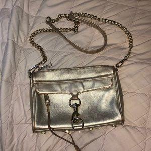 Rebecca Minkoff gold crossbody bag Used